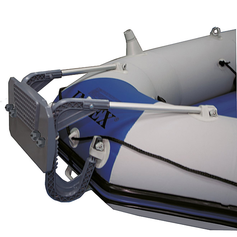 Intex Motorboot Set Seahawk 3 Heckspiegel Elektromotor Angelboot Schlauchboot Schlauchboote