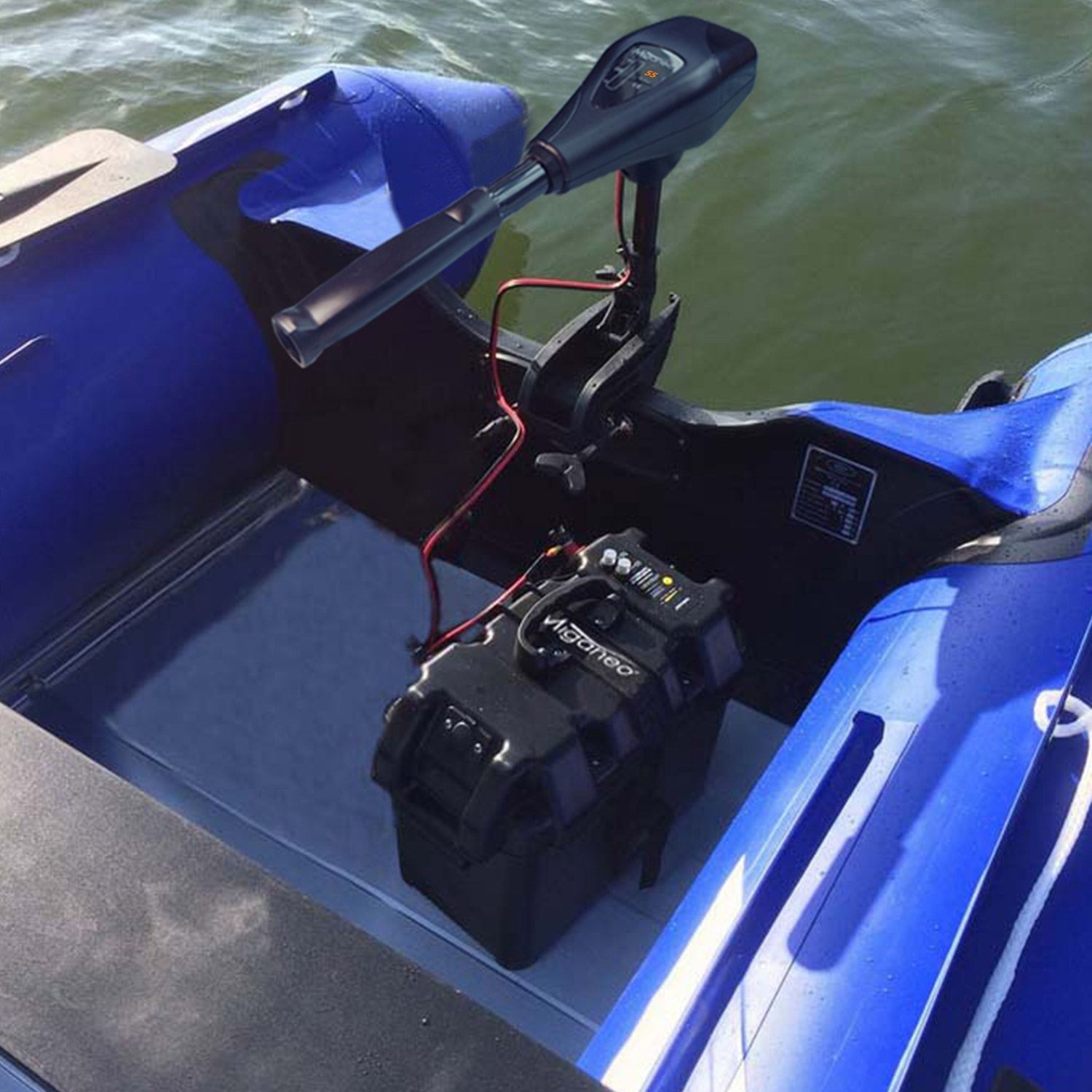 Miganeo Battery Box For Electric Motor Boat Motor Outboard