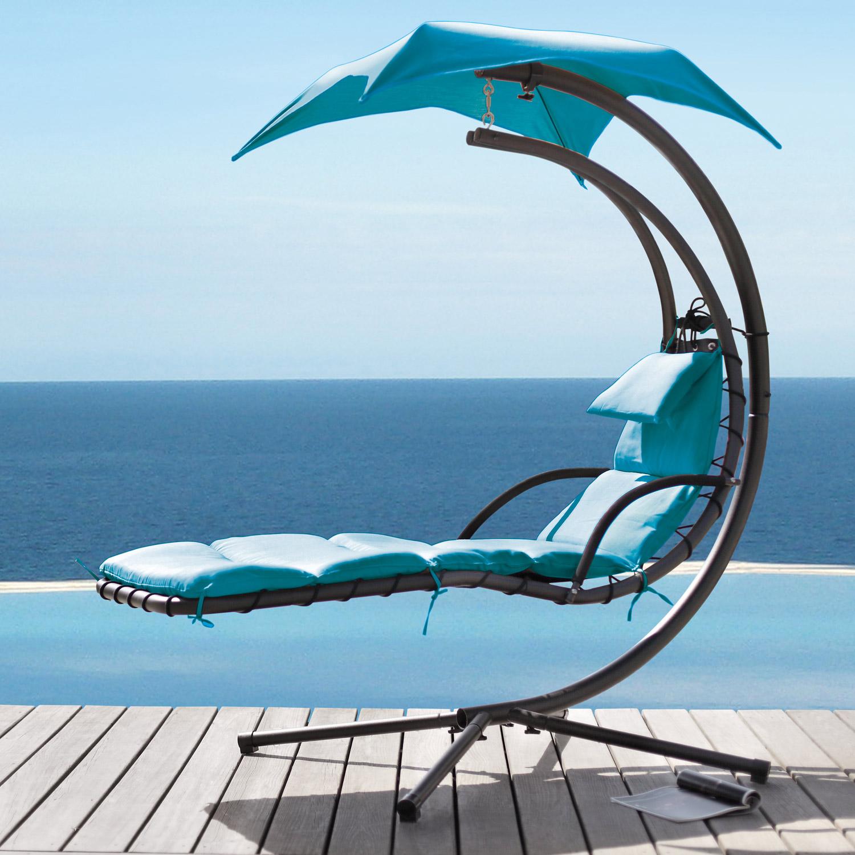 schwebeliege relaxliege schwingliege schaukelliege schwebesessel liege 2 farben ebay. Black Bedroom Furniture Sets. Home Design Ideas