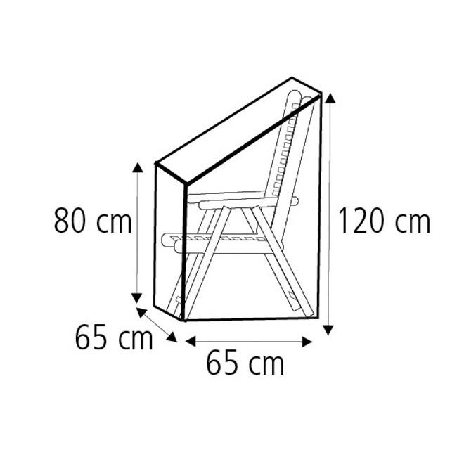 schutzh lle f r gartenst hle 65 x 65 x 80 120cm. Black Bedroom Furniture Sets. Home Design Ideas