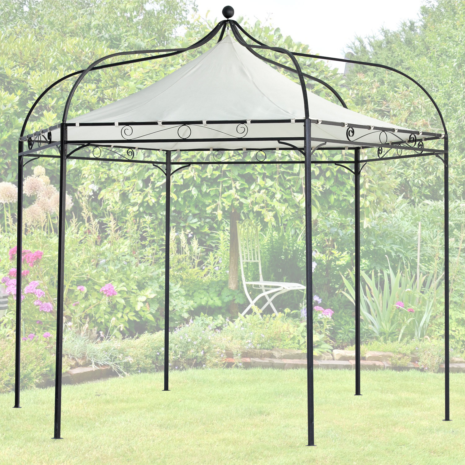 terena metall gartenpavillon 320x280 cm gazebo garten pavillon capri. Black Bedroom Furniture Sets. Home Design Ideas
