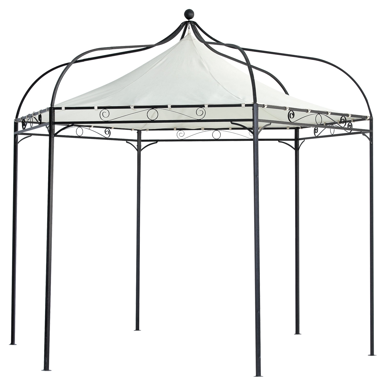 Gartenpavillon metall eckig  Terena® Metall Gartenpavillon 320x280 cm Gazebo Garten Pavillon Capri