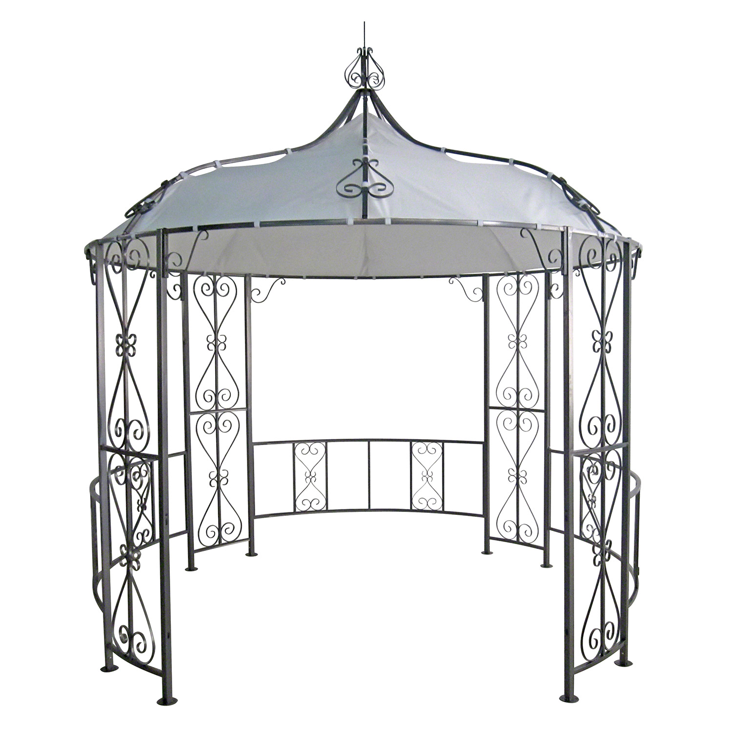 gazebo 3x3x2 9m garten pavillon pavillion zelt metall partyzelt gartenpavillion. Black Bedroom Furniture Sets. Home Design Ideas