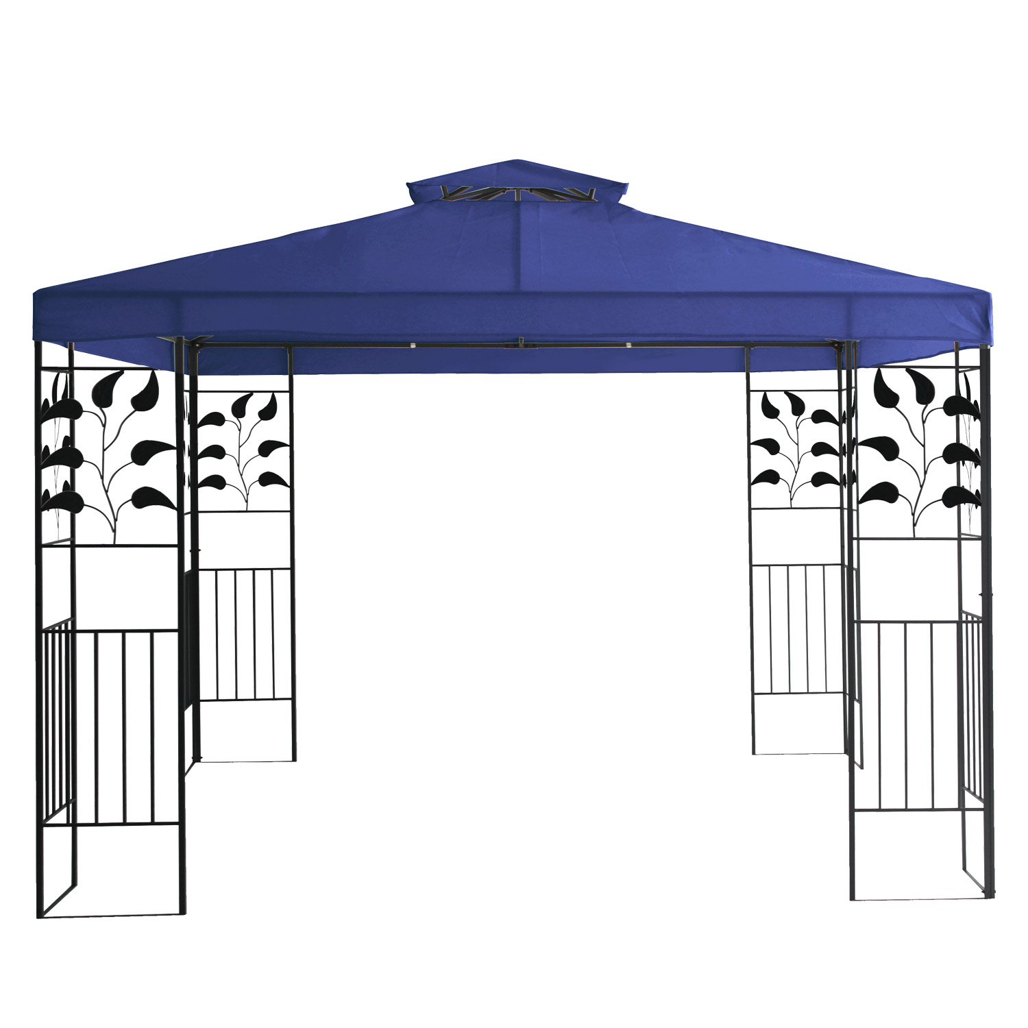 metall gartenpavillon 3x3 gazebo mit entl ftungsfunktion garten pavillon blau. Black Bedroom Furniture Sets. Home Design Ideas