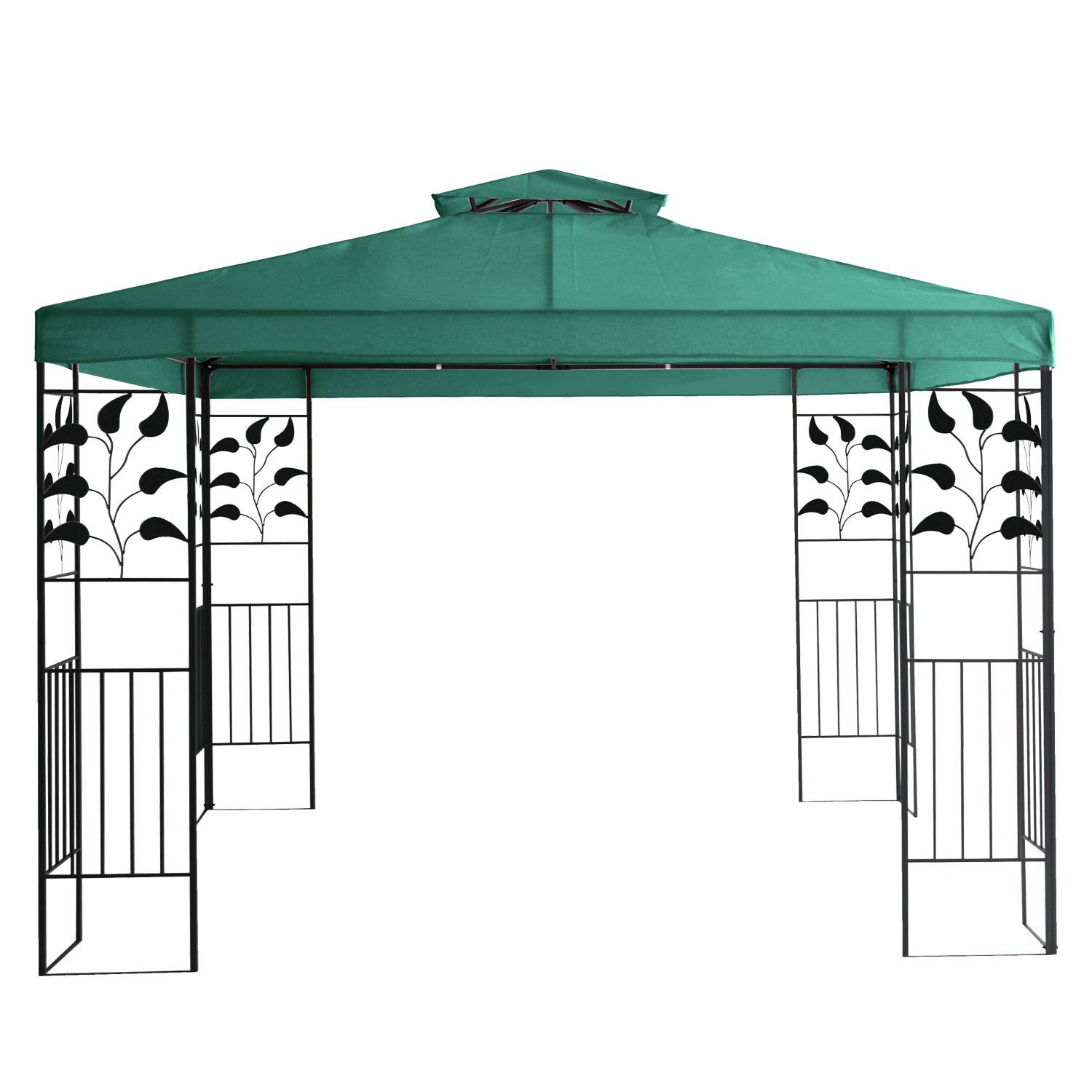 metall gartenpavillon 3x3 gazebo mit entl ftungsfunktion garten pavillon gr n. Black Bedroom Furniture Sets. Home Design Ideas