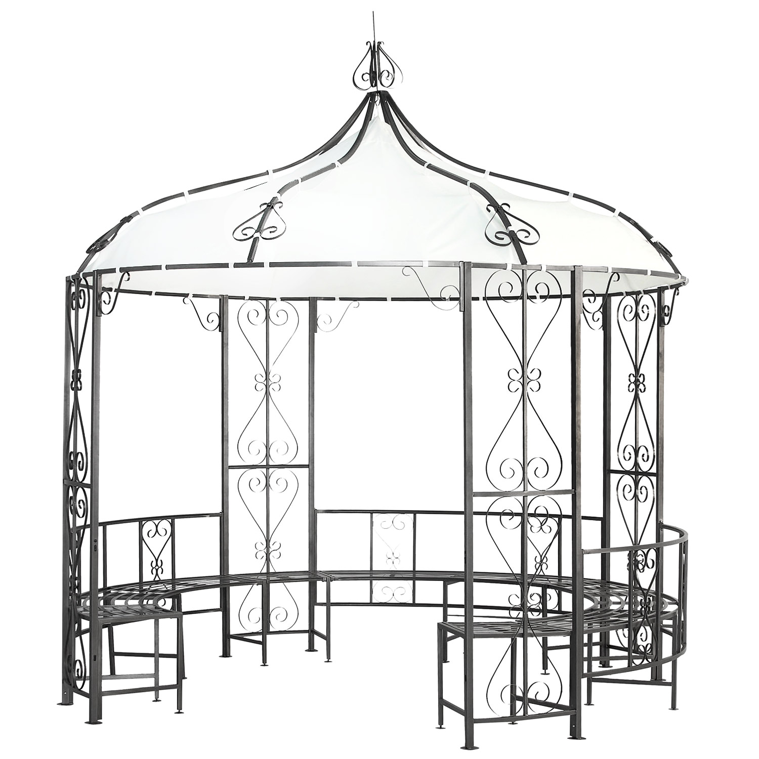 gazebo 3x3 x2 9 m garten pavillion pavillon zelt metall partyzelt gartenpavillon ebay. Black Bedroom Furniture Sets. Home Design Ideas