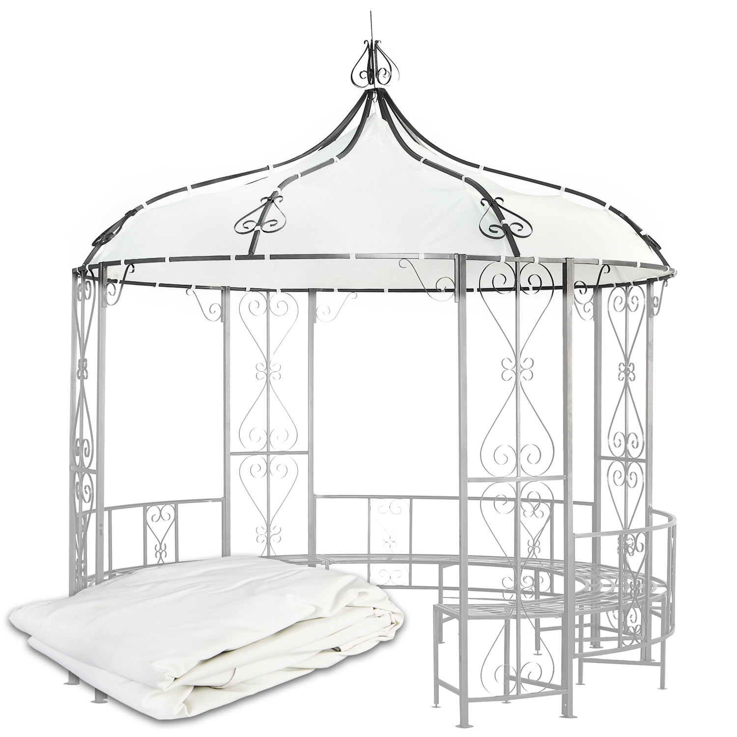 ersatzdach 3 m gazebo pavillon pavillion dach pavilion pavilliondach ebay. Black Bedroom Furniture Sets. Home Design Ideas