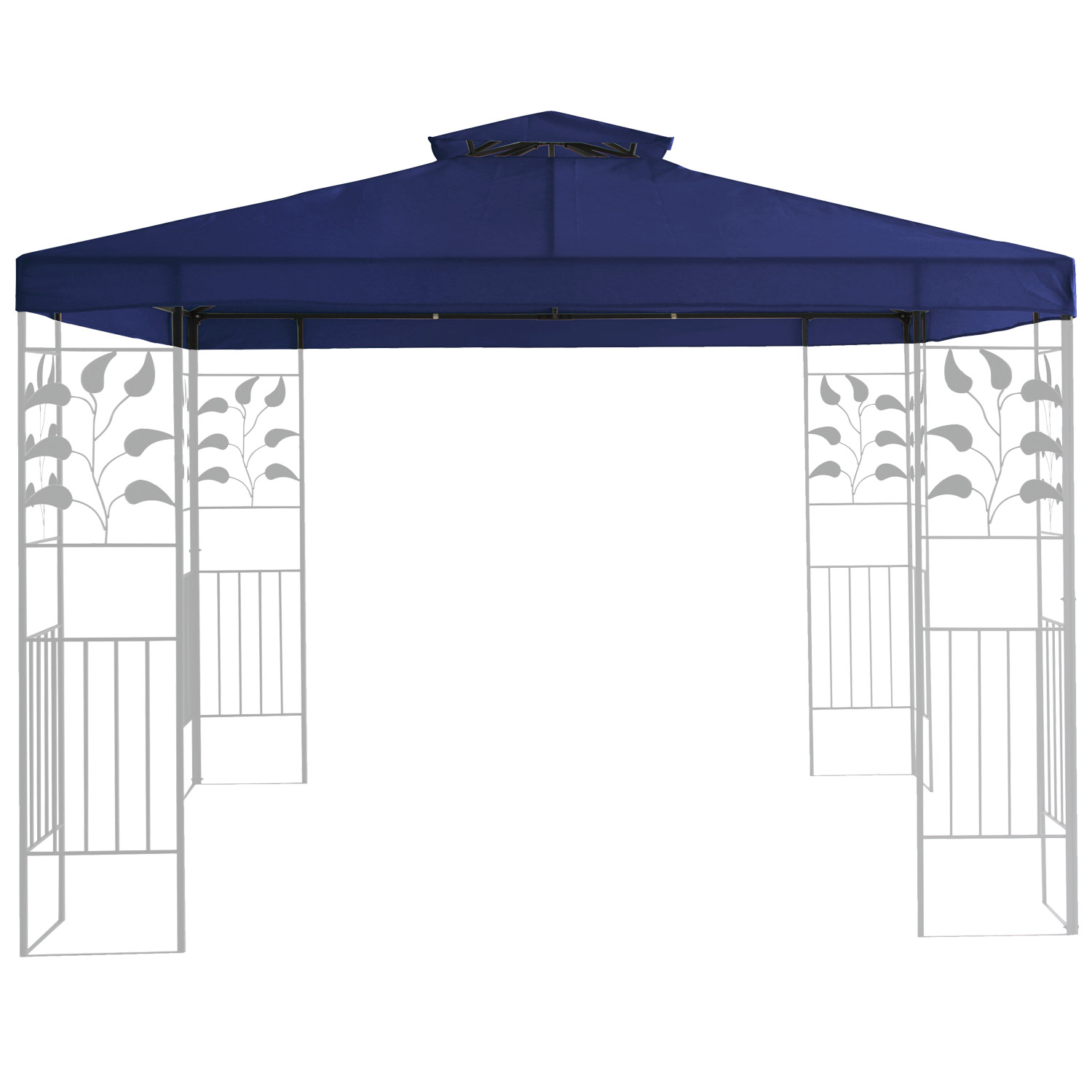 ersatzdach 3x3 m partyzelt gazebo pavillion dach pavillon pavilliondach blau ebay. Black Bedroom Furniture Sets. Home Design Ideas