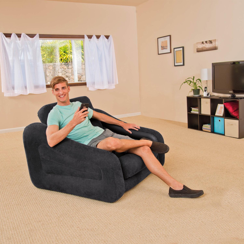 Intex sofa couch lounge sessel luftbett ausziehbar camping for Sofa zum schlafen