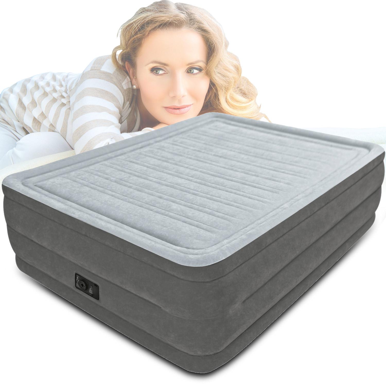 Intex 203x152x56 cm luftbett mit pumpe g stebett bett matratze luftmatratze neu ebay - Bett mit seitenwand ...
