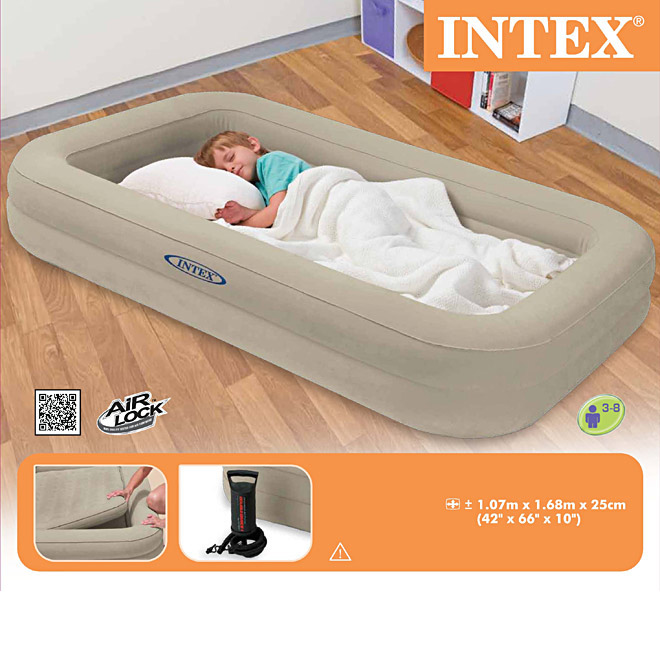 intex luftbett kinder reisebett 107 x 168 x 25 cm cm mit pumpe. Black Bedroom Furniture Sets. Home Design Ideas