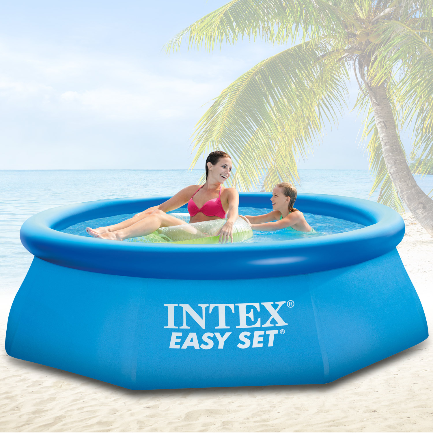 Intex 305x91 cm Swimming Pool Quick-Up Schwimmbecken Schwimmbad ...