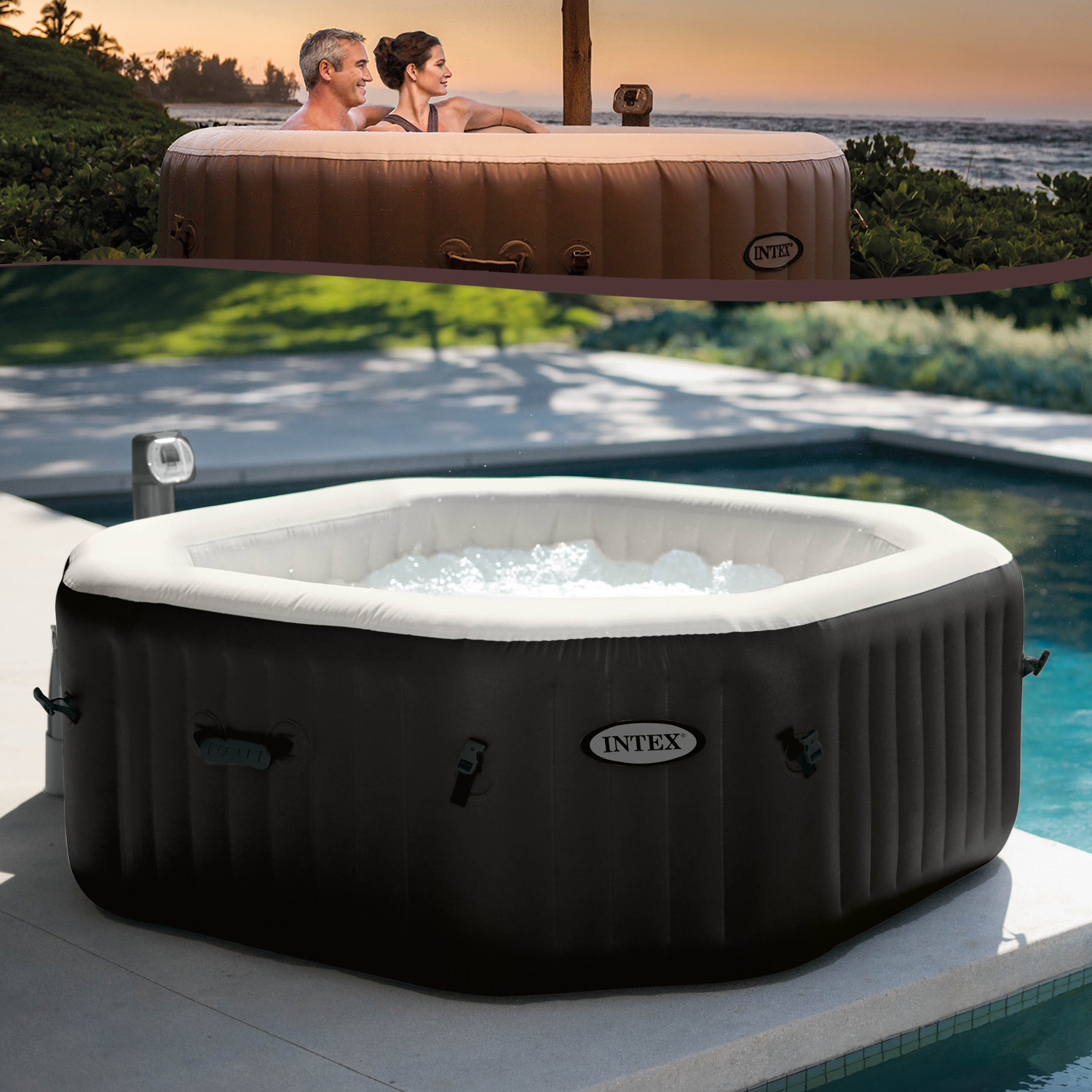 intex 128454 whirlpool spa 201x71cm pool bathtub jacuzzi bathtub whirl tub ebay. Black Bedroom Furniture Sets. Home Design Ideas