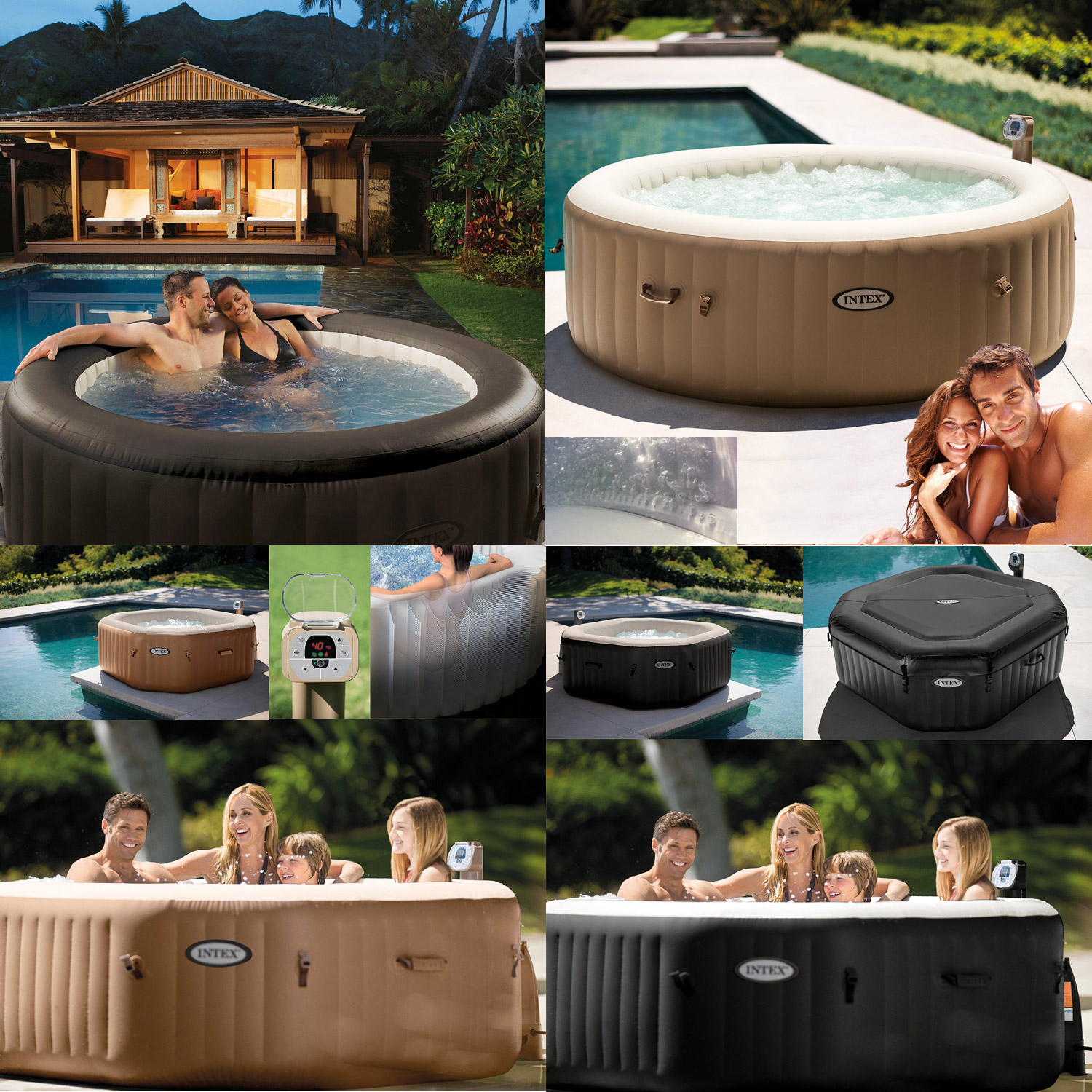 intex deluxe whirlpool spa pool badewanne aufblasbar whirlwanne outdoor heizung ebay. Black Bedroom Furniture Sets. Home Design Ideas