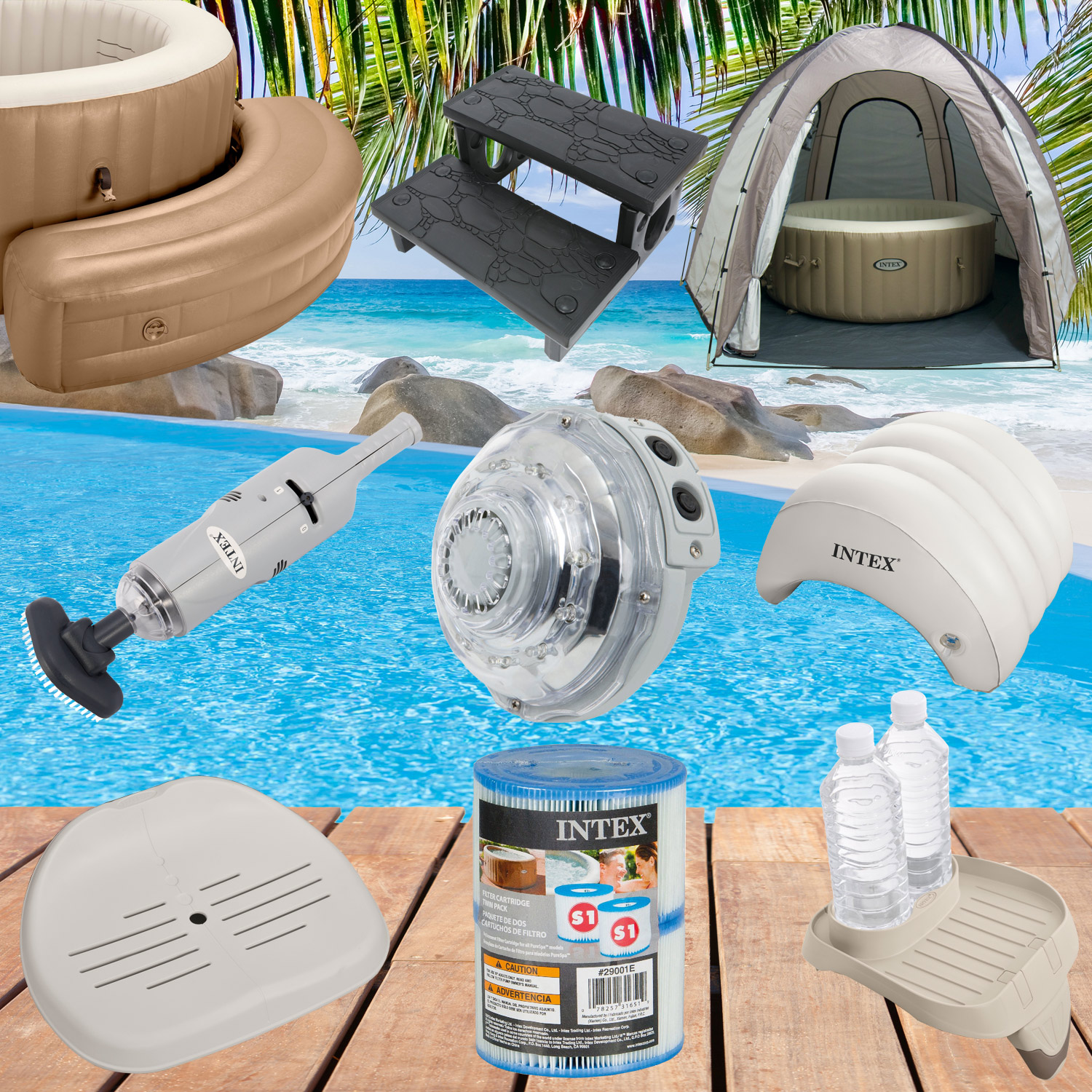 Intex Zubehor Fur Whirlpool Spa Bubble Led Treppe Sitz Filter Pool Aufblasbar Ebay