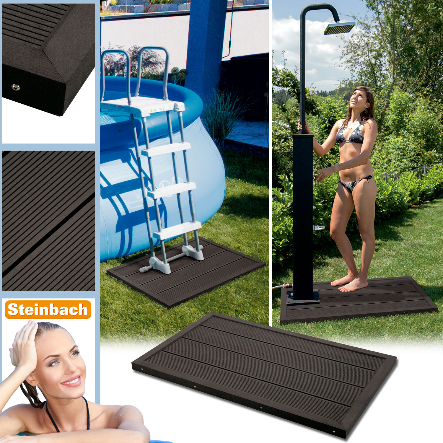 bodenelement f r solardusche pool gartendusche. Black Bedroom Furniture Sets. Home Design Ideas