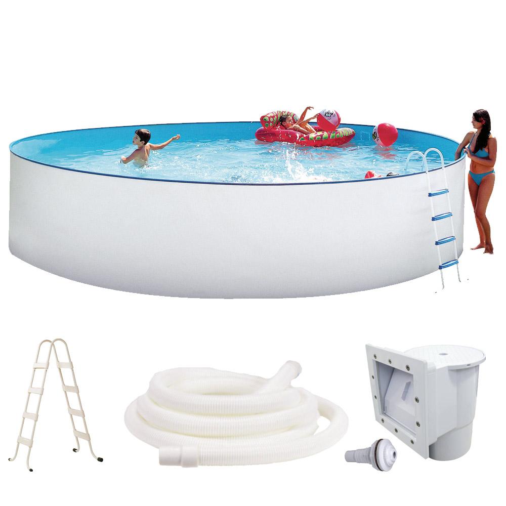 Swimming pool 450 x 120cm schwimmbecken stahlwandbecken for Stahlwandpool set angebote