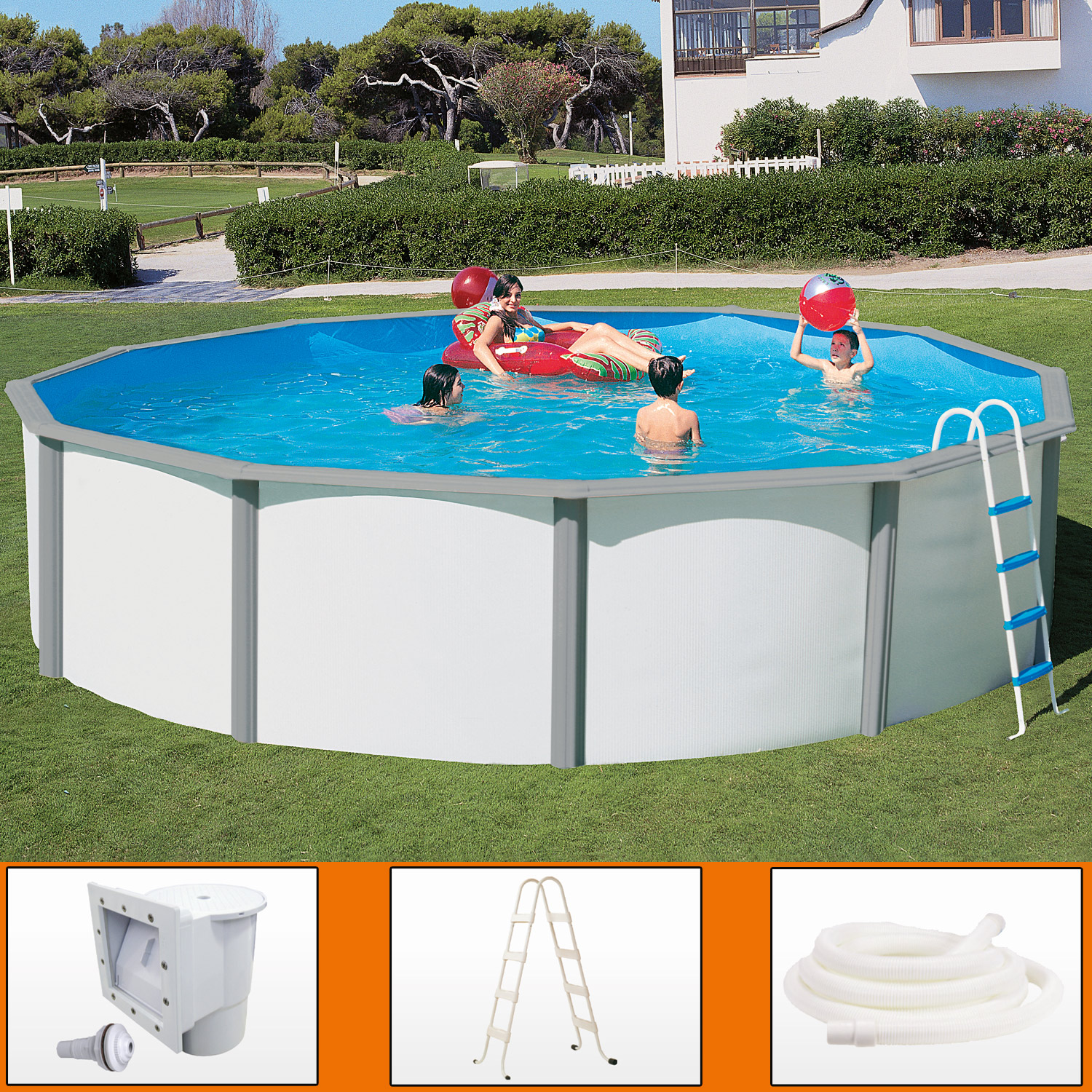 Swimming pool stahlwand ovalbecken swimmingpool 5 50 x 3 for Obi intex pool