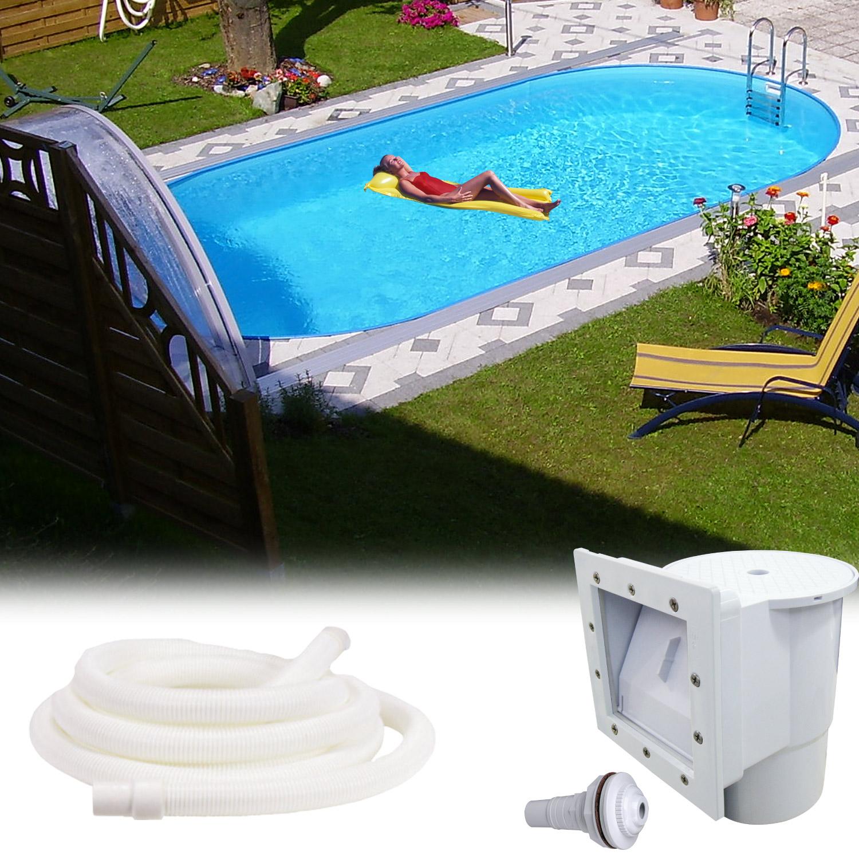 Stahlwandpool 800x400x150 schwimmbecken swimming pool for Schwimmbad innenfolie