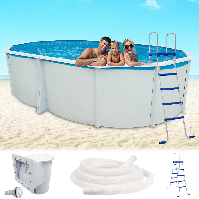Stahlwandpool 550x366x132 schwimmbecken swimming pool for Schwimmbad innenfolie