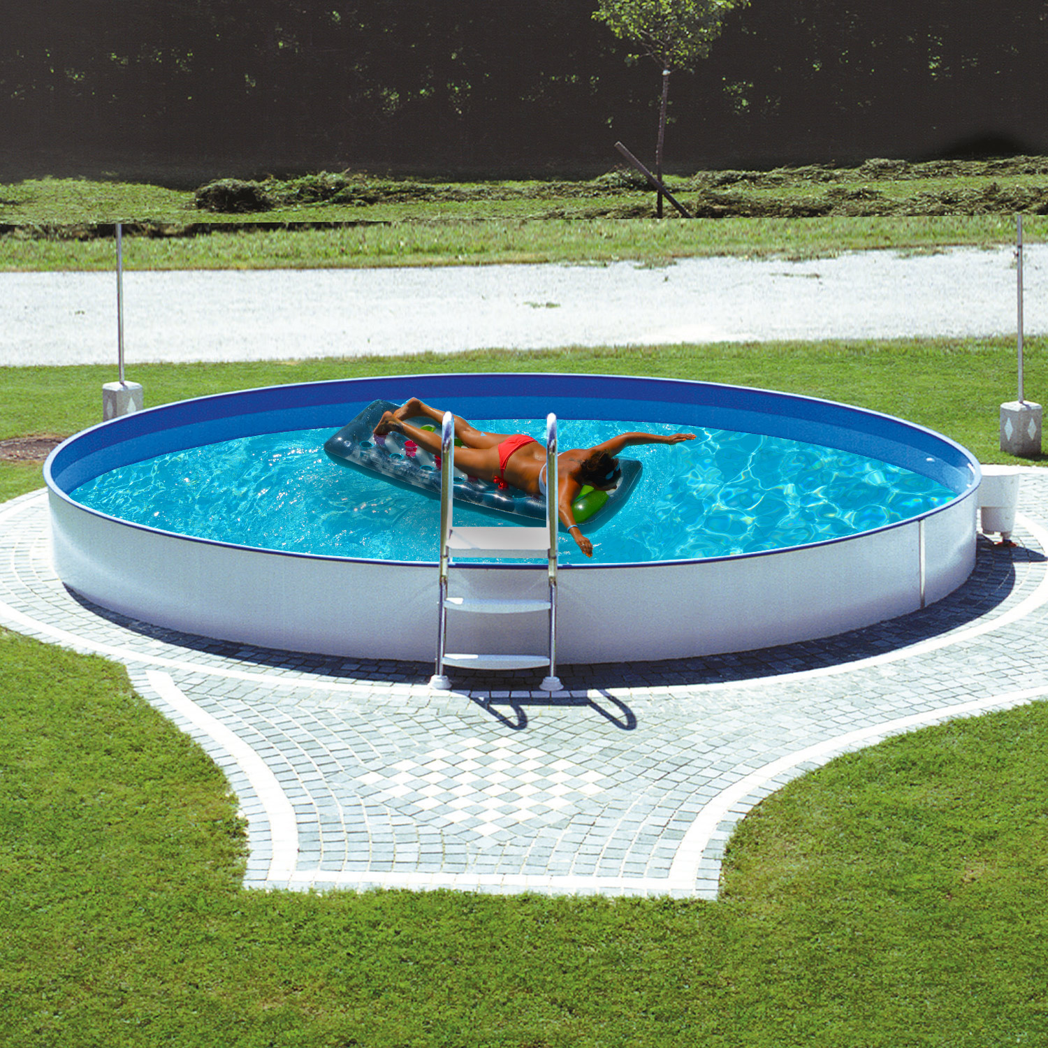 stahlwandpool 460x120cm schwimmbecken swimming pool schwimmbad metal stahlwand ebay. Black Bedroom Furniture Sets. Home Design Ideas