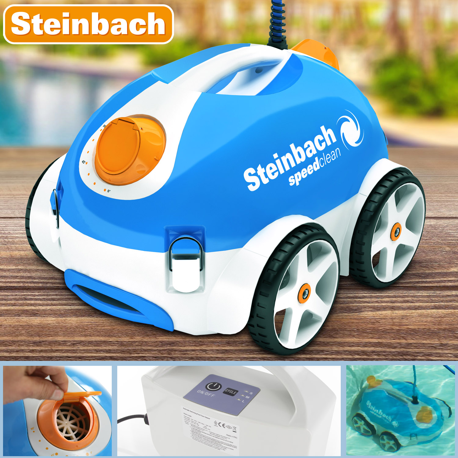 steinbach bodensauger poolreiniger poolroboter schwimmbadreiniger roboter pool ebay. Black Bedroom Furniture Sets. Home Design Ideas