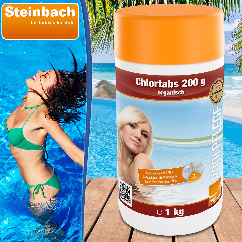 1kg chlortabs 200g chlortabletten chlor pool schwimmbad for Garten pool chlortabletten