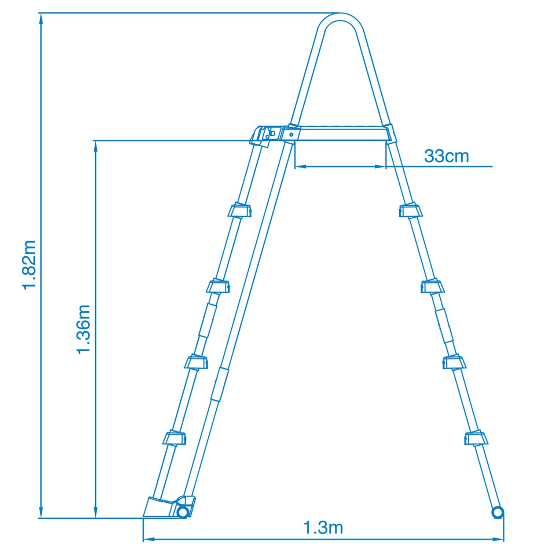 intex sicherheitsleiter f r pools von 122 bis 132 cm h he 28074. Black Bedroom Furniture Sets. Home Design Ideas