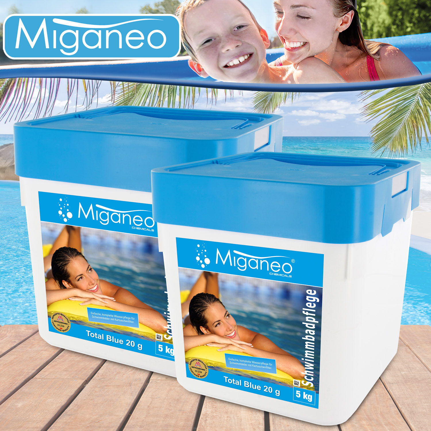miganeo blue power tabs 2 x 5kg multitabs 5 in 1. Black Bedroom Furniture Sets. Home Design Ideas