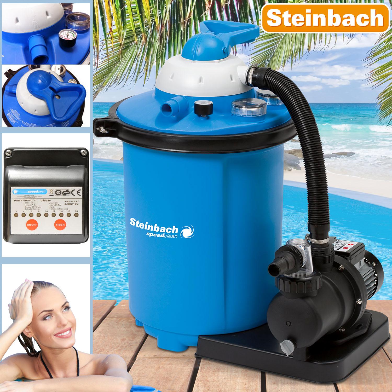 "Steinbach Sandfilteranlage Pool /""Speed Clean Comfort 75/"" Sandfilter 8.000 l//h"