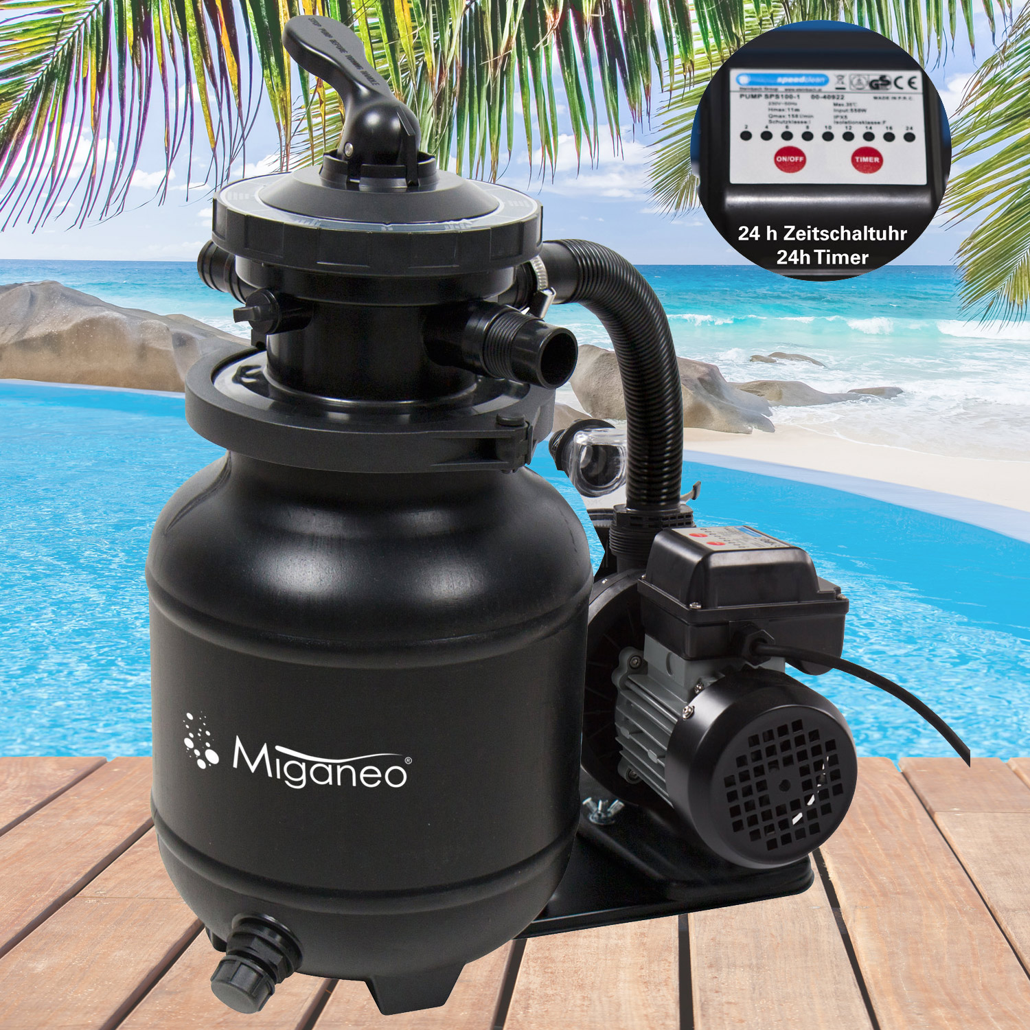 miganeo sandfilter system filter tank for pool pump. Black Bedroom Furniture Sets. Home Design Ideas