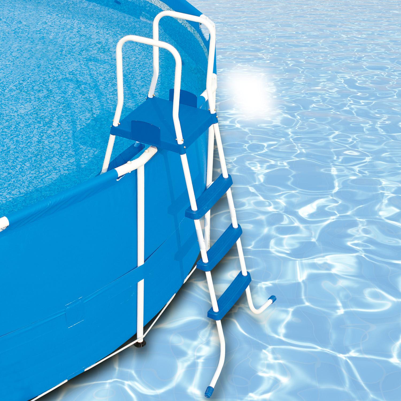bestway leiter 122 cm swimming pool schwimmbad poolleiter schwimmbadleiter 58097. Black Bedroom Furniture Sets. Home Design Ideas