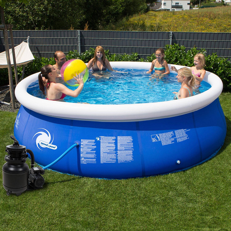 Pool 366x84 easy sandfilter schwimmbecken schwimmbad planschbecken swimming ebay - Pool mit sandfilter ...