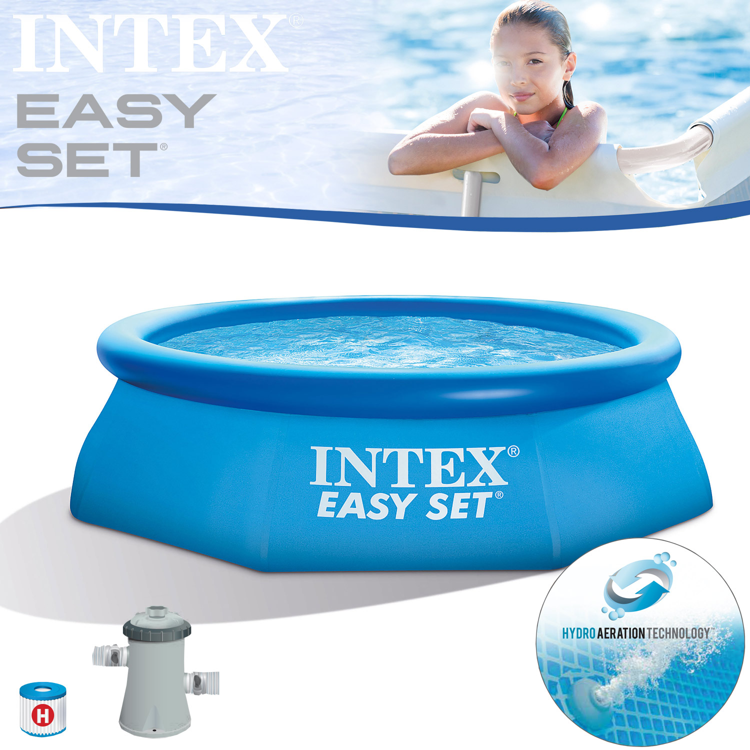 intex 305x76 cm swimming pool schwimmbecken schwimmbad. Black Bedroom Furniture Sets. Home Design Ideas