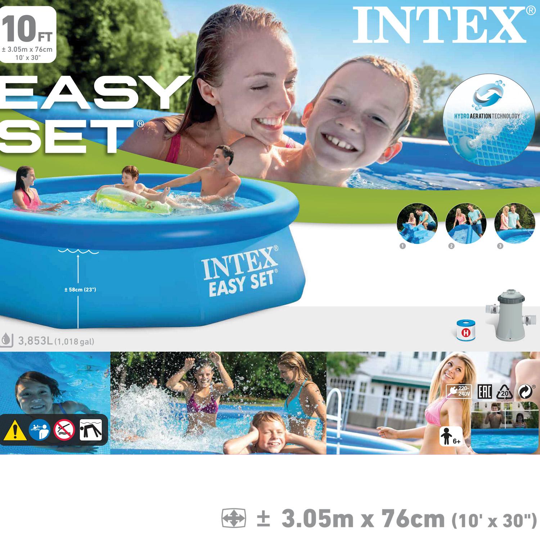intex 305x76 cm swimming pool schwimmbecken schwimmbad planschbecken pumpe 28122 ebay. Black Bedroom Furniture Sets. Home Design Ideas