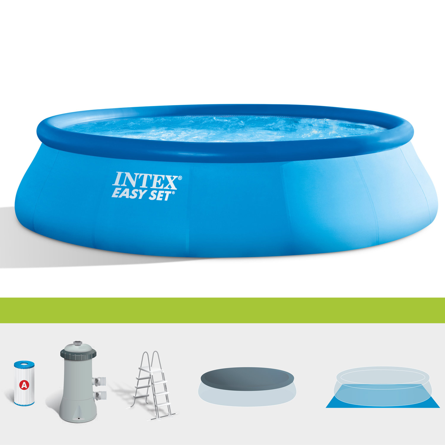 Intex swimming pool easy 457x122 cm mit pumpe leiter for Swimmingpool angebote