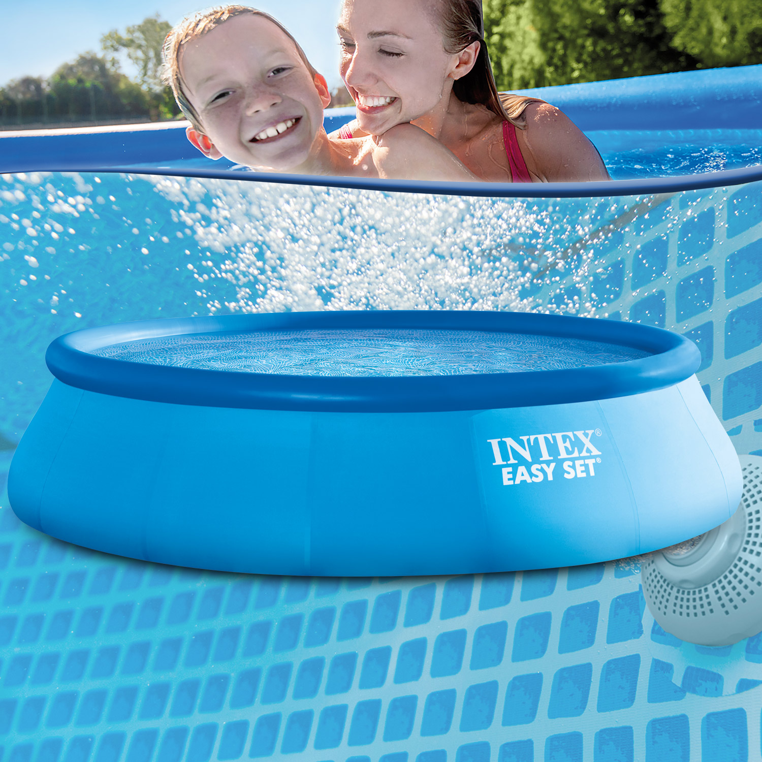 Intex swimming pool easy 457x91 cm ohne zubeh r for Swimmingpool angebote