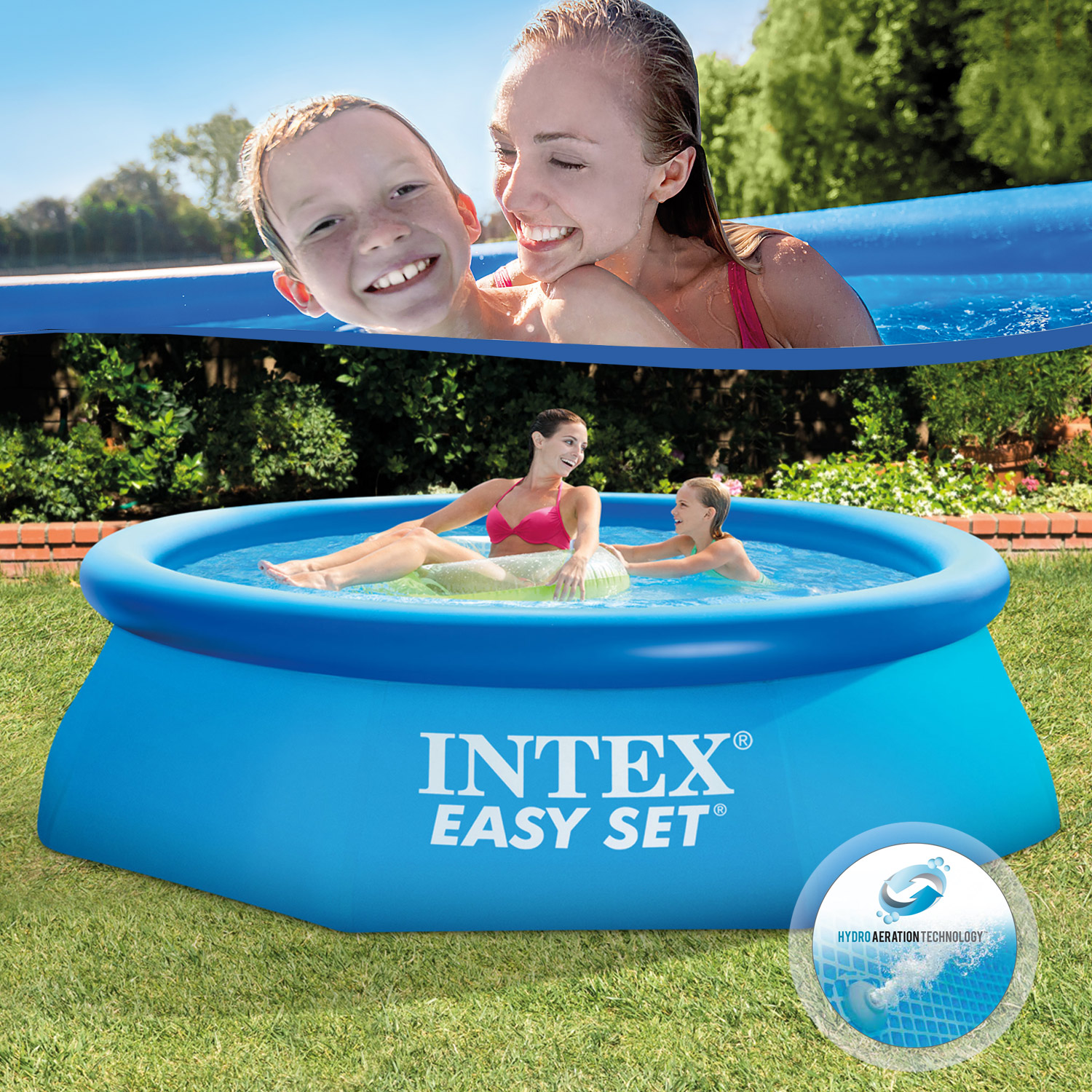 Intex piscine autoportante swimming pool easy 244 305 366 for Piscine intex 244 avec filtre