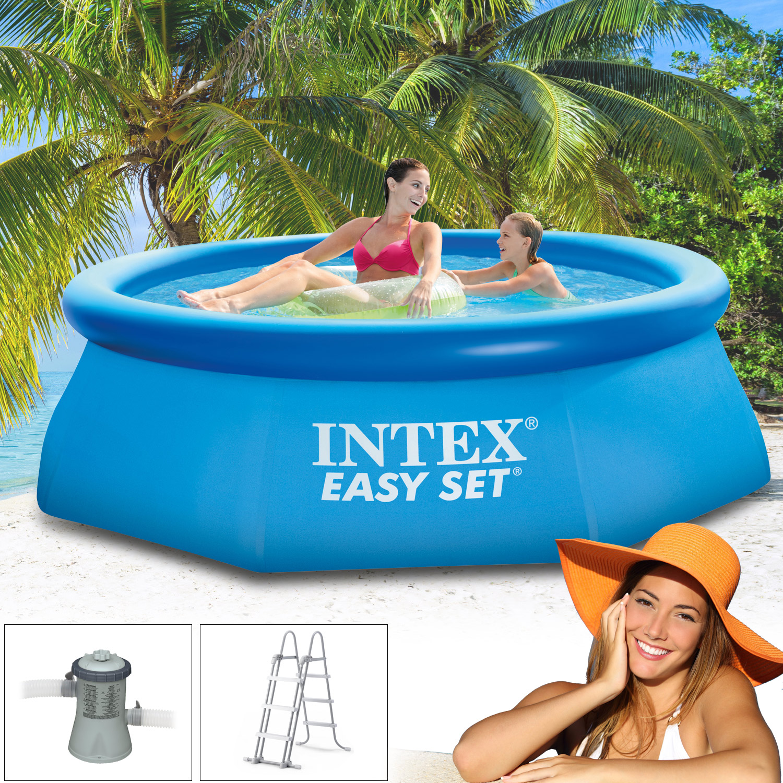intex 244x76 easy set schwimmbecken schwimmbad swimming pool planschbecken pumpe ebay. Black Bedroom Furniture Sets. Home Design Ideas