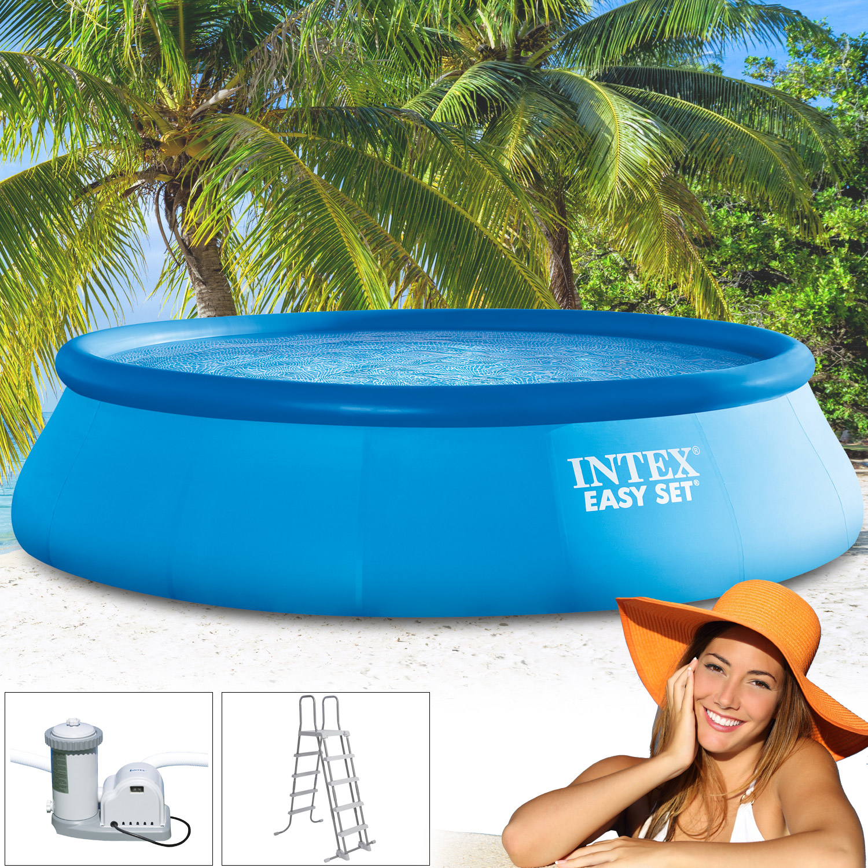 intex 549x132 set filterpumpe schwimmbecken schwimmbad swimming pool leiter ebay. Black Bedroom Furniture Sets. Home Design Ideas