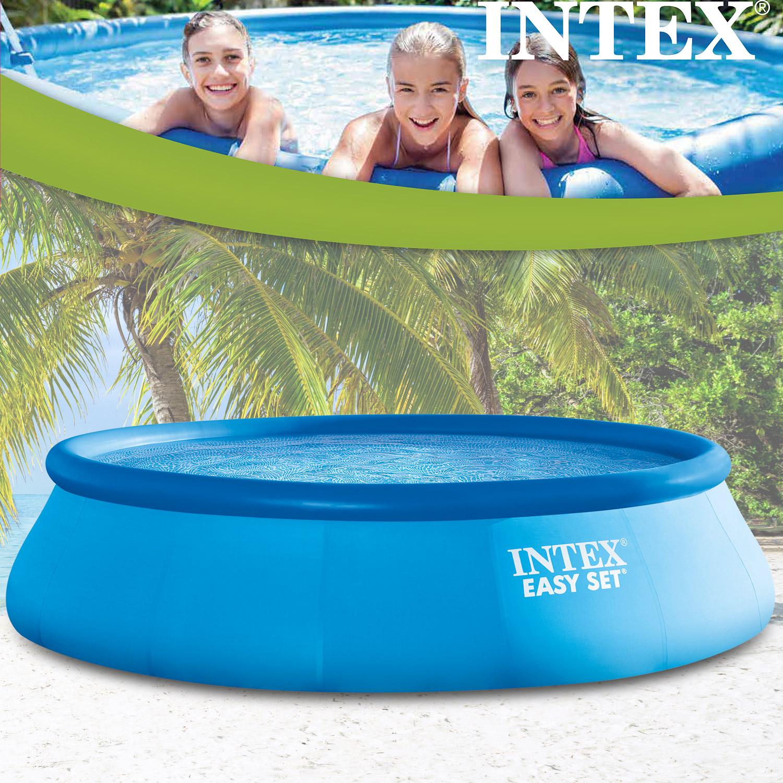 intex 366x91 cm easy set bestehend aus pool filterpumpe und leiter. Black Bedroom Furniture Sets. Home Design Ideas