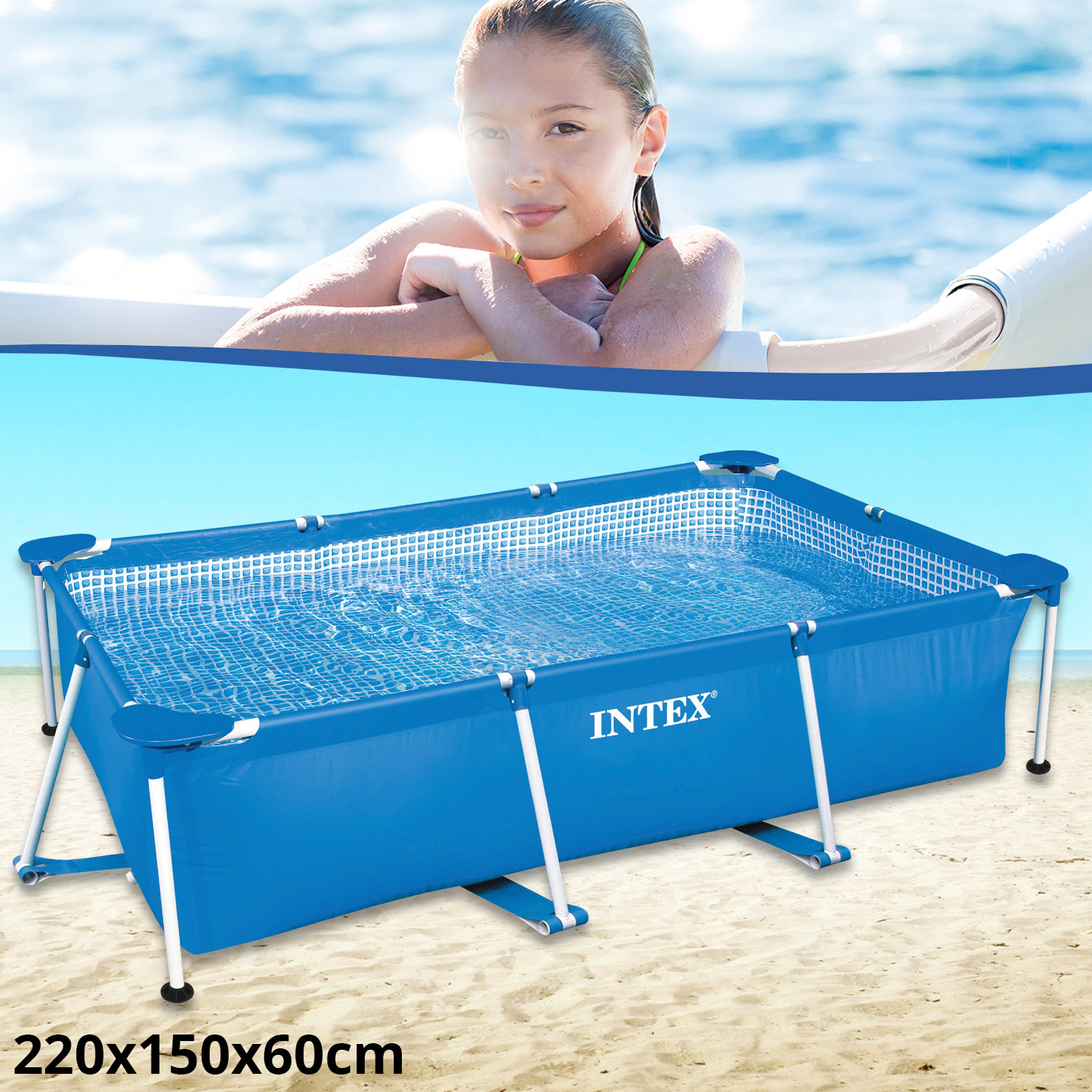 Intex family schwimmbad swimming pool familienpool for Pool schwimmbecken
