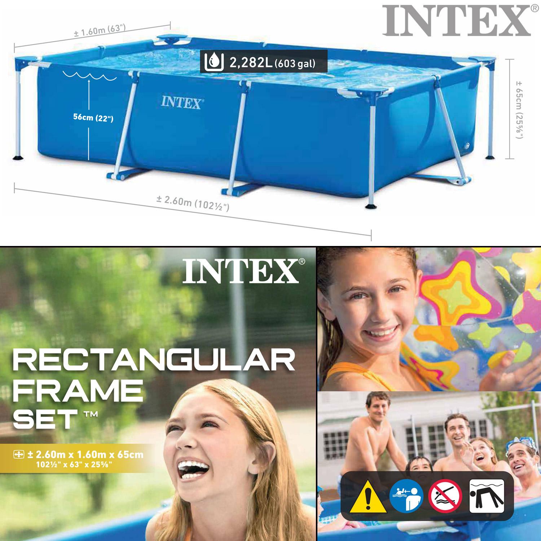 Intex frame pool family mit intex pumpe 604g - Pool rechteckig mit pumpe ...