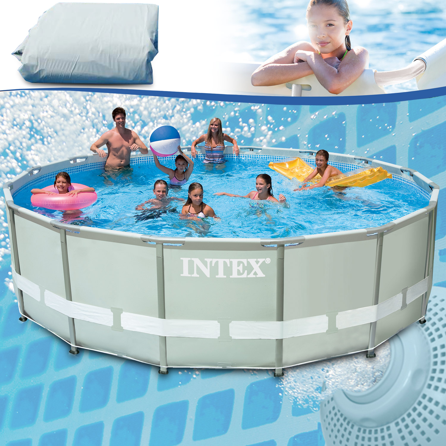 10989 intex ersatzpool 549x132 cm swimming pool frame ohne for Swimmingpool angebote