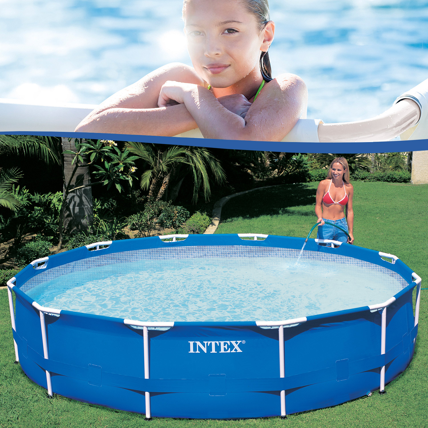intex 305x76 cm metall frame pool set rondo. Black Bedroom Furniture Sets. Home Design Ideas
