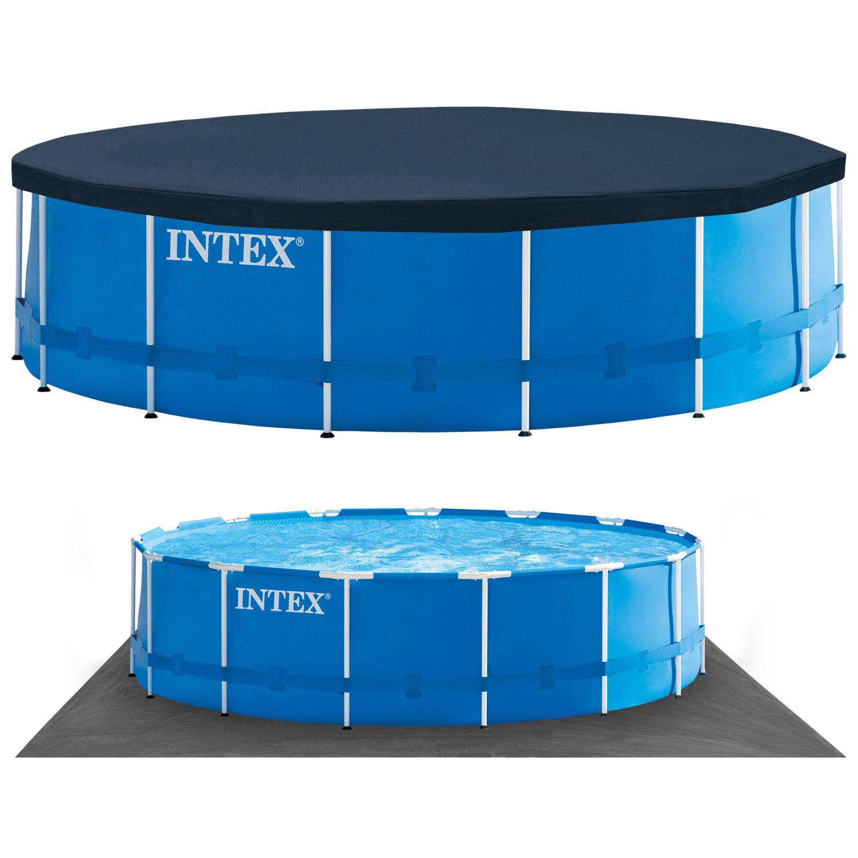 intex 457x122 swimming pool frame stahlwandbecken. Black Bedroom Furniture Sets. Home Design Ideas