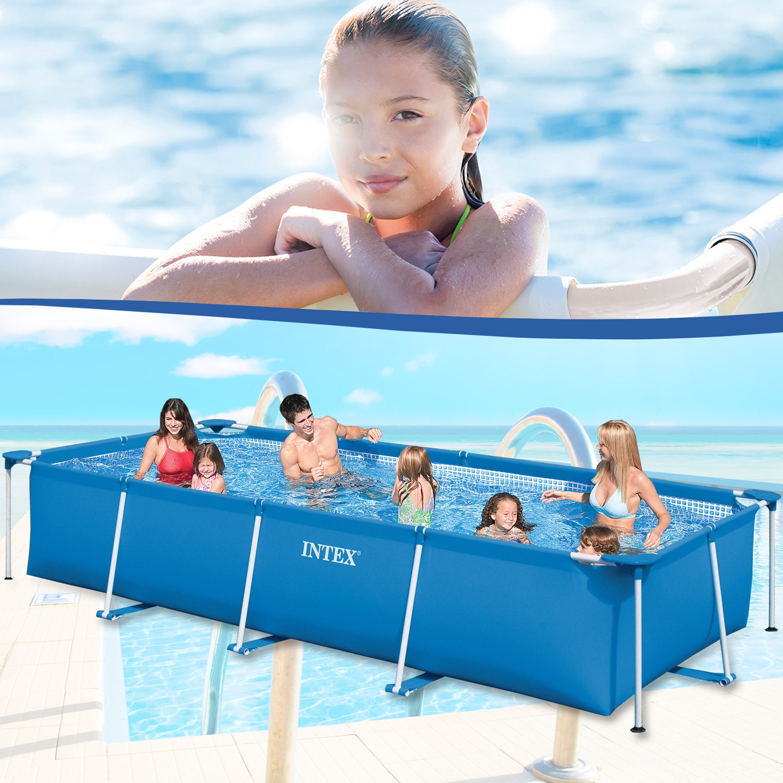 intex 450x220x84 swimming pool schwimmbecken frame stahlwandbecken schwimmbad ebay. Black Bedroom Furniture Sets. Home Design Ideas