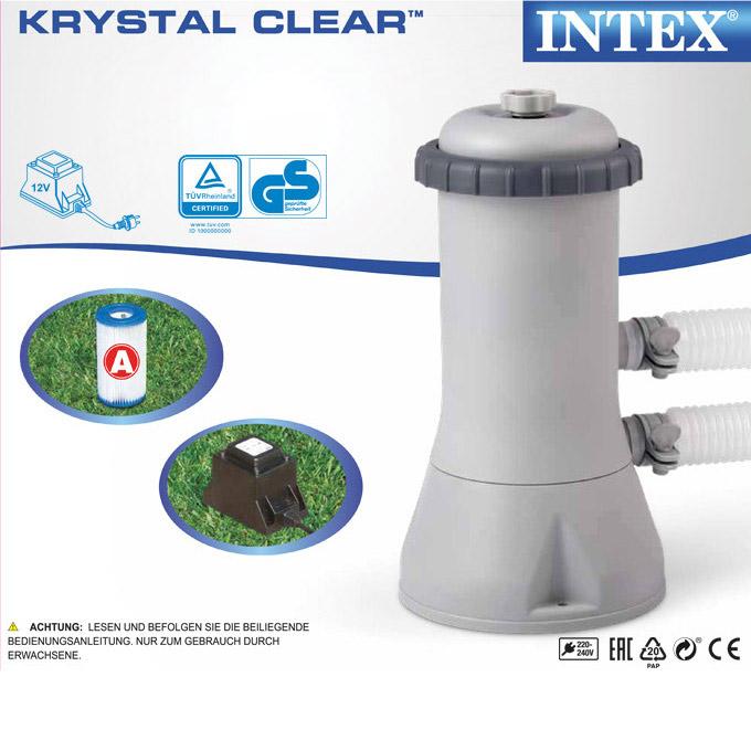 Intex 450x220x84 swimming pool mit pumpe schwimmbecken for Gunstige pools mit pumpe