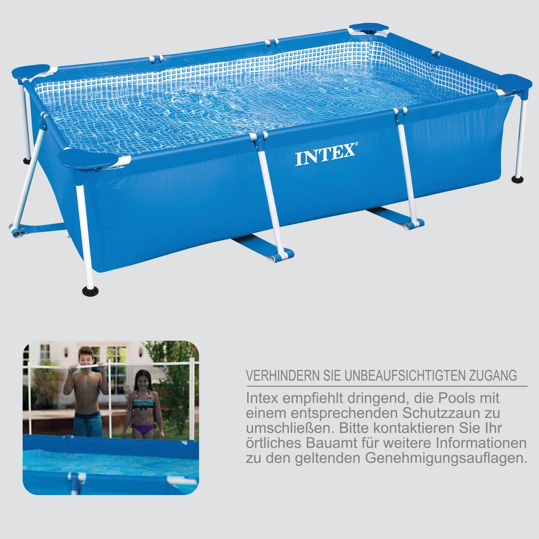 Intex 450x220x84 swimming pool mit sandfilter for Garten pool mit sandfilter