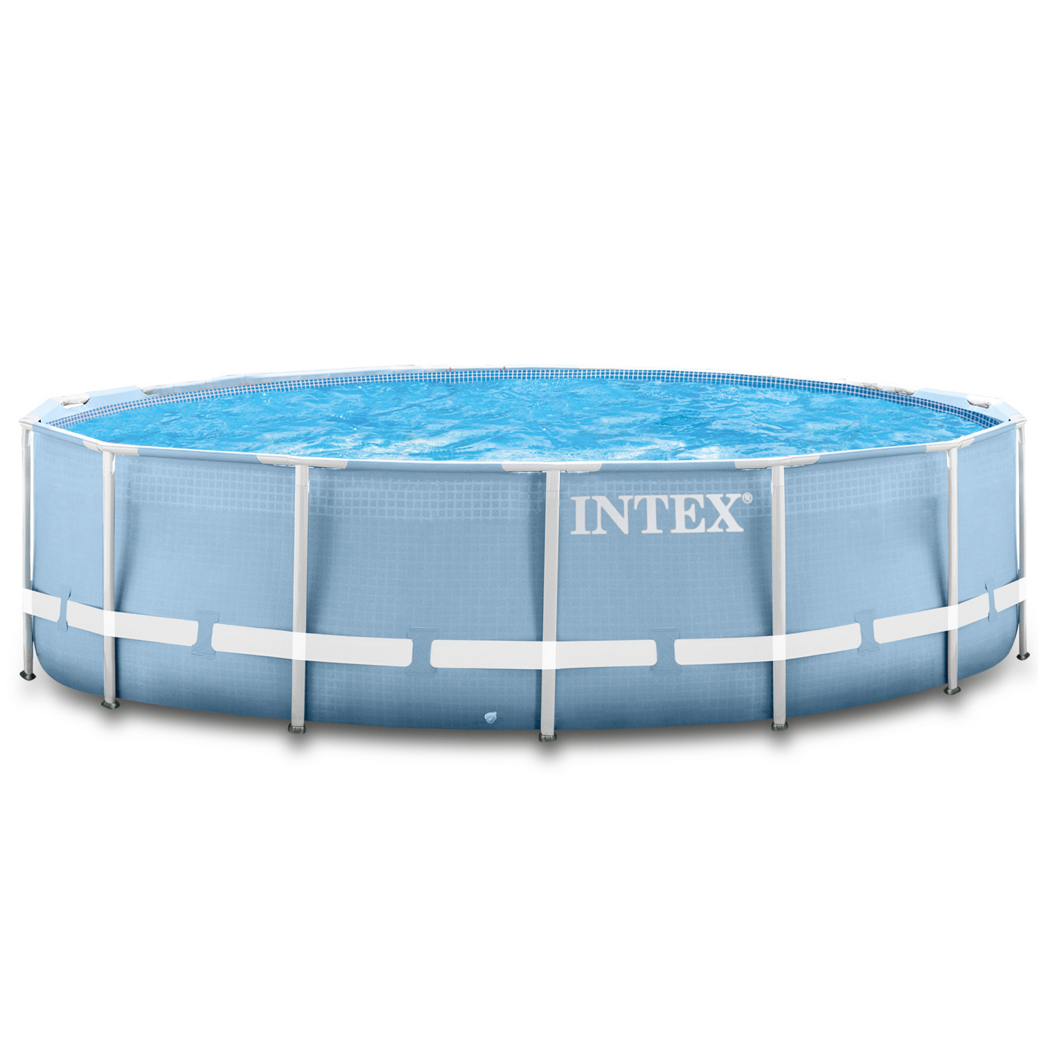 Intex swimming pool frame 457x122cm mit pumpe leiter for Pool aufblasbar mit pumpe